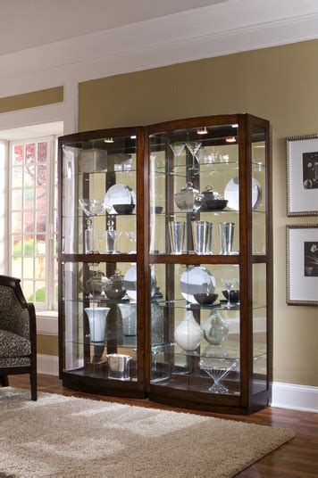 curio cabinet  pacific heights brown  pulaski home