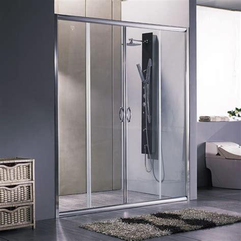 box doccia policarbonato porta doccia scorrevole per box nicchia 170 180 cristallo