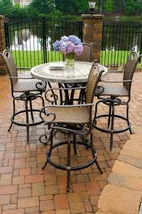 High Patio Table Set High Top Patio Table And Chairs Marceladick