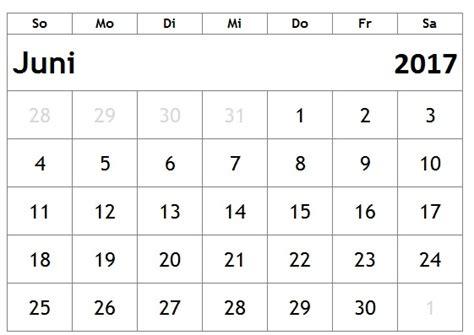 Juli Kalender 2017 Kalender Juni 2017 Zum Ausdrucken Kalender 2016 Pdf