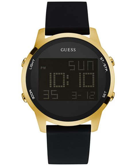 Guess Romawi Date Leather White guess s digital chronograph black leather