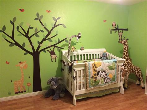 Jungle Decor For Nursery Jungle Theme Nursery Caydens Room Pinterest Jungle Theme Nursery Nurseries And Jungle Theme