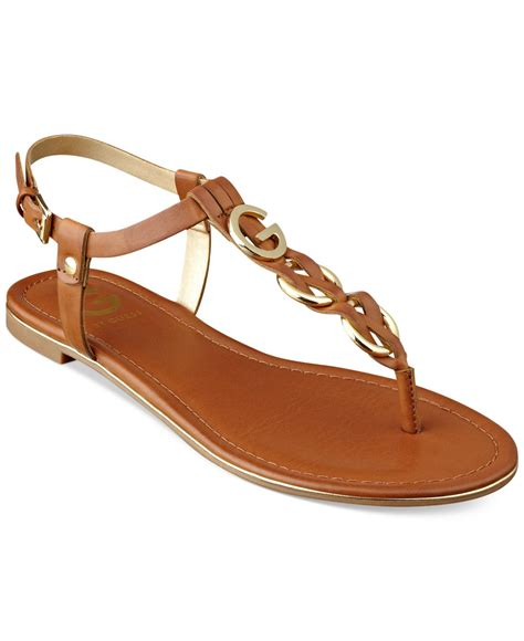 sandals guess lyst g by guess s dahlia braided t flat
