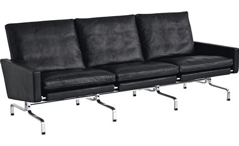 3 seat sectional sofa poul kjaerholm pk31 three seat sofa hivemodern com