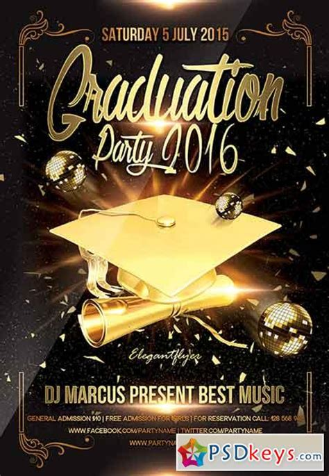 Graduation Card Template Psd by Graduation 187 Free Photoshop Vector Stock Image