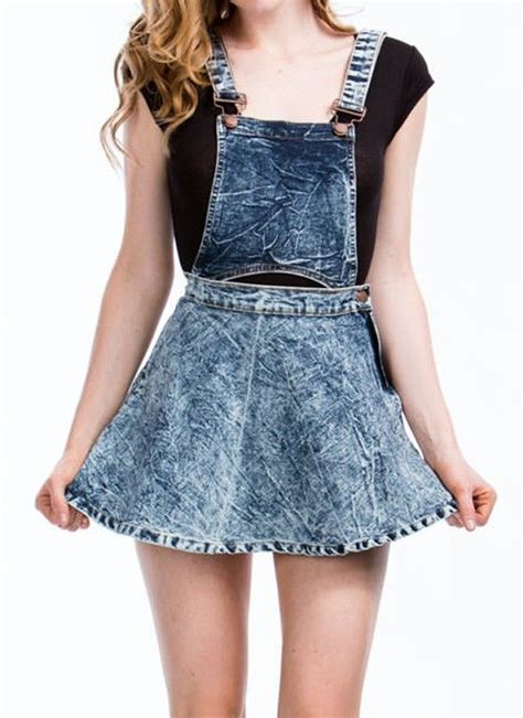 acid wash dual way detachable denim jean skater skirt