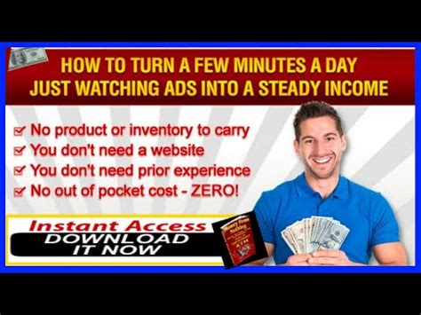 Get Paid To Work From Home Online - get paid to watch ads online with money from nothing work from home system youtube