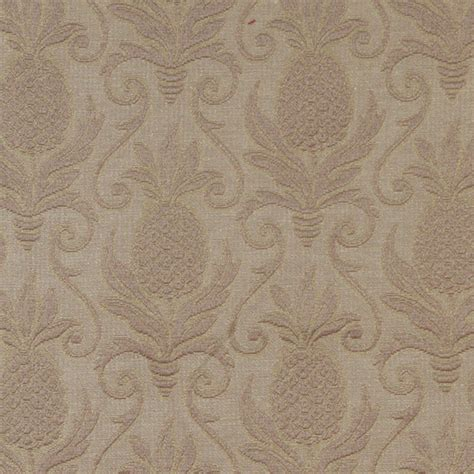 Matelasse Upholstery Fabric by Olive Green Pineapples Woven Matelasse Upholstery Grade