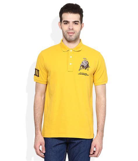 Lamborghini T Shirt Polo by Automobili Lamborghini Yellow Regular Fit Polo T Shirt