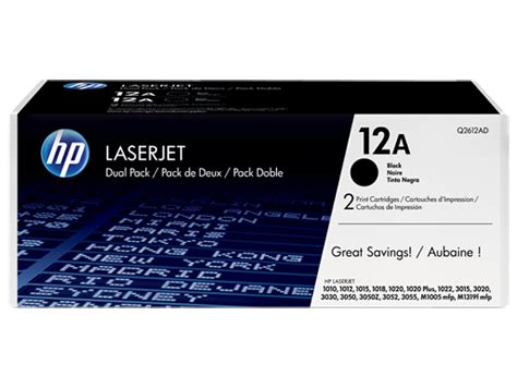 Toner Laserjet 12a hp 12a 2 pack black original laserjet toner cartridges q2612ad hp 174 africa