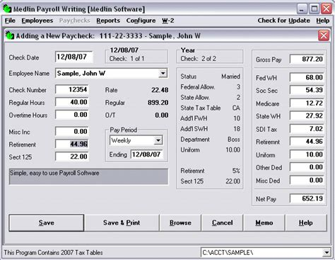 Igcse Ict Ict In Finance Payroll System Template