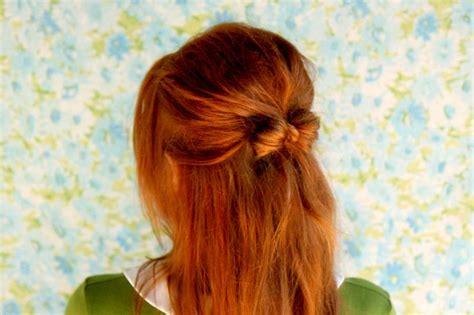 growing short hair into a bo how to style a hair bow a beautiful mess