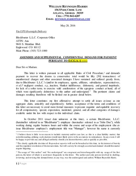 Demand Letter Oregon demand letter to bb with comments do not use as exhibit
