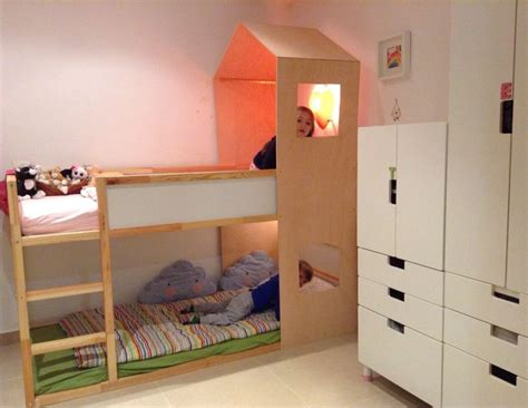 bunk bed hacks ikea kura hack bunk bed playhouse kids room pinterest