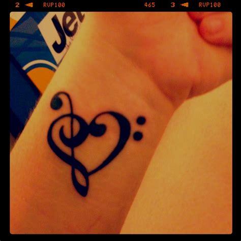 treble clef heart tattoo treble clef bass clef my