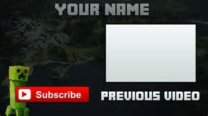 minecraft outro template by iblyzz on deviantart