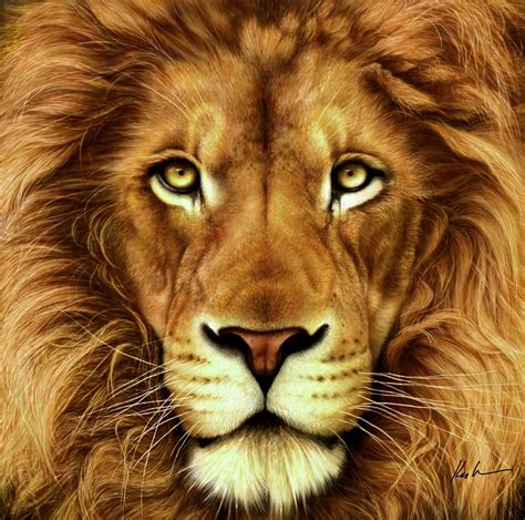 lion print lion digital art by karen kutoloski