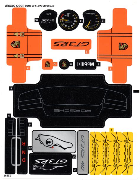 Lego Porsche Gt3 Aufkleber by I Am Searching For The Parts Dat From The Porsche Gt3 Rs