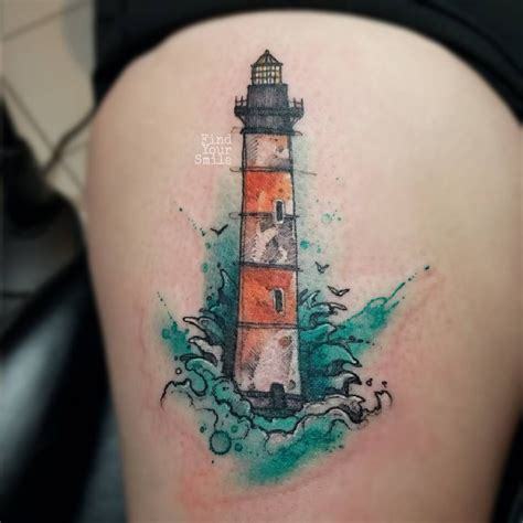help designing a tattoo lil lighthouse to help guide you through the new year