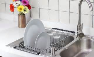 the sink kitchen dish drainer rack durable chrome