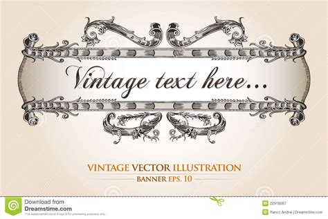 Vintage Banner Template Stock Vector Image Of Heraldic 22918087 Z Banner Template