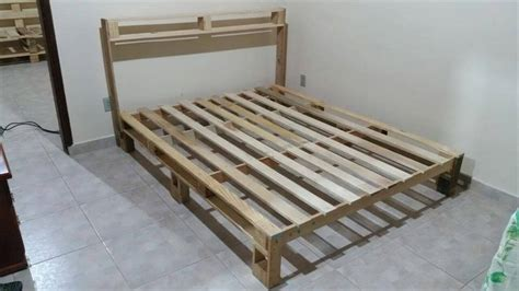 bed frame from pallets bed frame out of pallets 101 pallet ideas