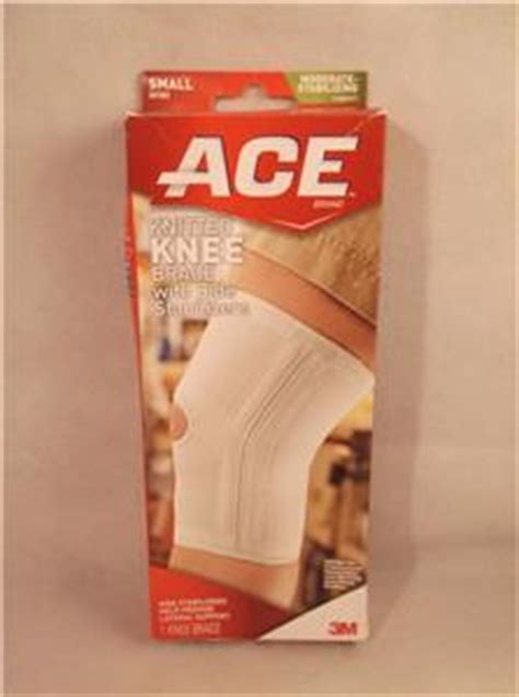 ace knitted knee support 1 ace knitted knee brace w side stabilizers model 207353