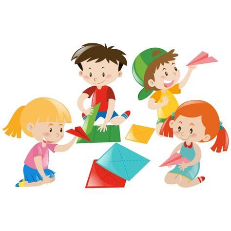 clipart bambini che giocano bambini che giocano disegno scaricare vettori gratis