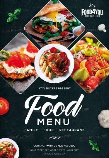 Food Menu Psd Flyer Template 21537 Styleflyers Food Flyers Templates