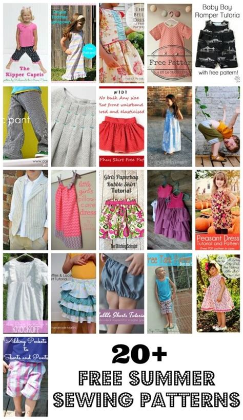 sewing pattern offers 20 free sewing patterns for kids life sew savory
