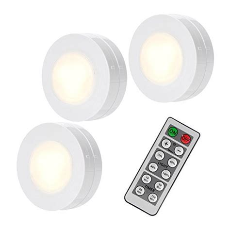 remote battery operated cabinet lights solled wireless led puck lights with remote control