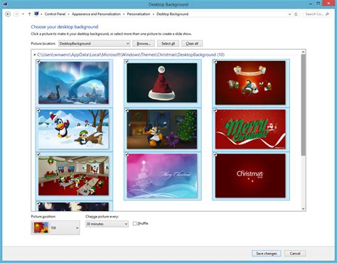 themes windows 10 christmas christmas theme for windows 8 and windows 8 1