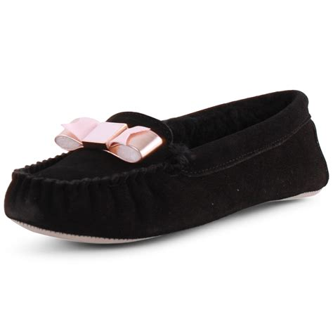 ted baker sarsone womens suede black slipper new shoes all