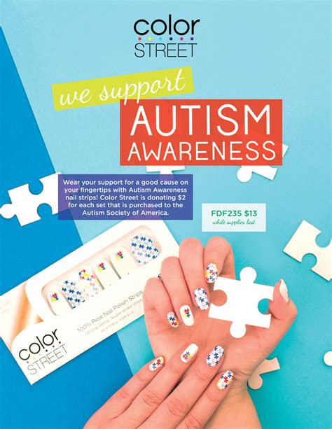 autism awareness color color autism awareness nails direct sales and