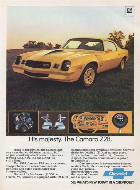 directory index chevrolet 1978 chevrolet 1978 chevrolet camaro brochure 1978 camaro ad 03