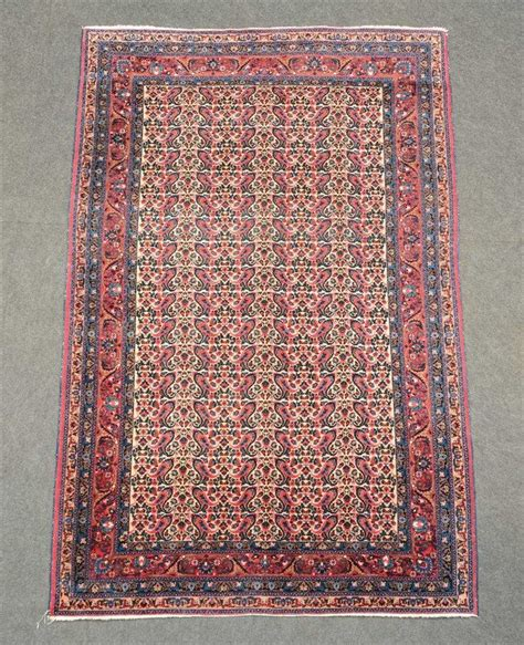 Oriental Rug With Floral Motifs Wool On Cotton 142 X 219 C Rug Motifs