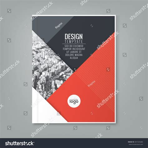 poster design report minimal simple red color design template stock vector