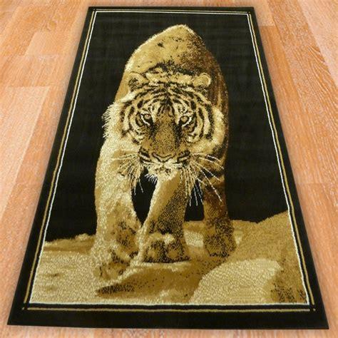 Tiger Print Rugs For Sale by Black Tiger Print Rug Carpet Runners Uk