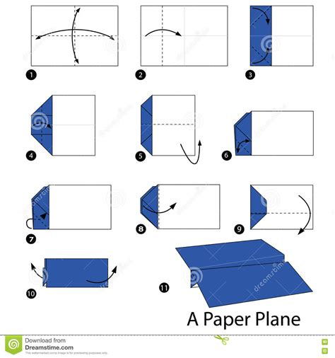 Step By Step To Make A Paper Airplane - step by step how to make origami a plane