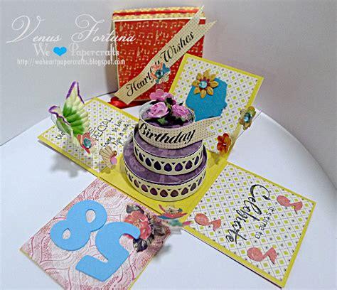 heartfelt wishes birthday exploding box sisters craft cafe