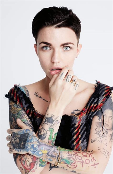 tattoo girl oitnb ruby rose is back on tv and she s fired up and excited