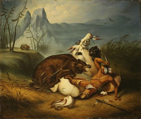 american indian painting file indian fight anonymous painter mid 19th