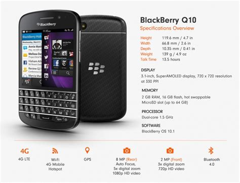 Blackberry Q10 Original Black by Blackberry Q10 16gb Black 4g Lte Uk Qwerty Keyboard