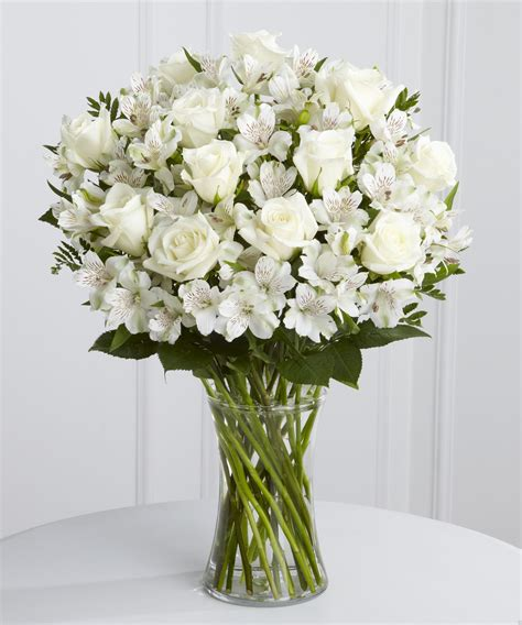 Floral Arrangements In Vases by White And Alstroemeria Vase The Bouquet