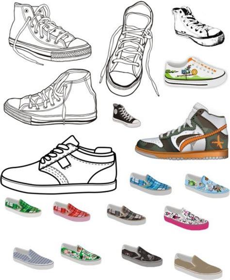 Sepatu Kanvas Floral 1 canvas shoes vector free vector in coreldraw cdr cdr