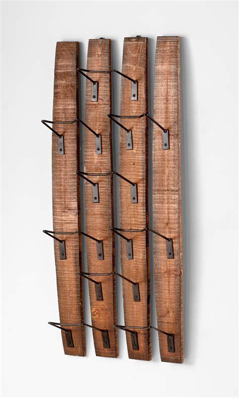 decorative wall wine racks large fresno wall mounted wine rack by cyan design