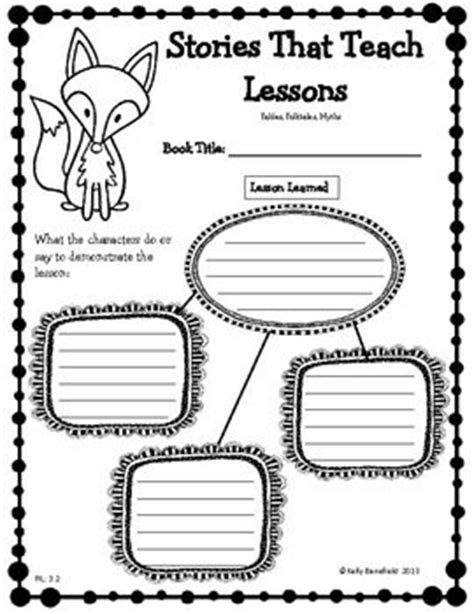 Fables Worksheets For 3rd Grade by Reading Literature Graphic Organizers For 3rd Grade Use