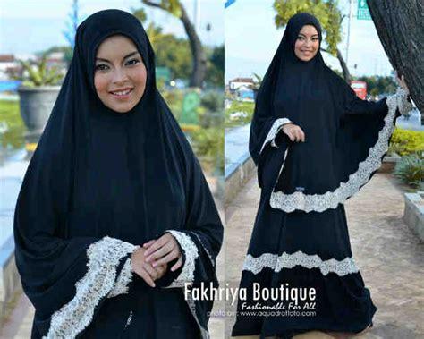 Aisya Syar I aisya dress black baju muslim gamis modern