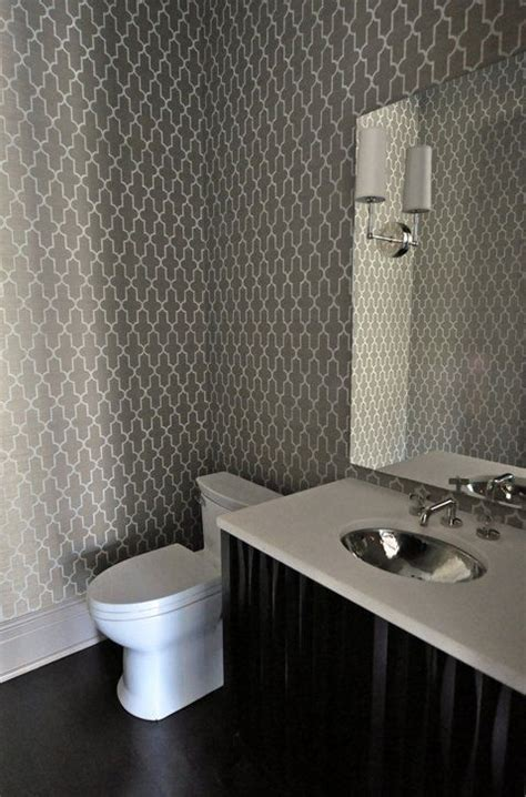 grey wallpaper bathroom amazing powder room design with white charcoal gray