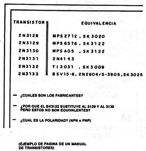equivalencia transistor bc557 equivalencia transistor bc548 28 images taller de electronica 2 pr 193 ctica no 6